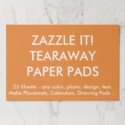 Custom Personalized Large Tearaway Paper Pads