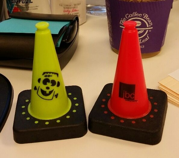 3 5 High Mini Traffic Cones Available In Orange Lime Green Blue