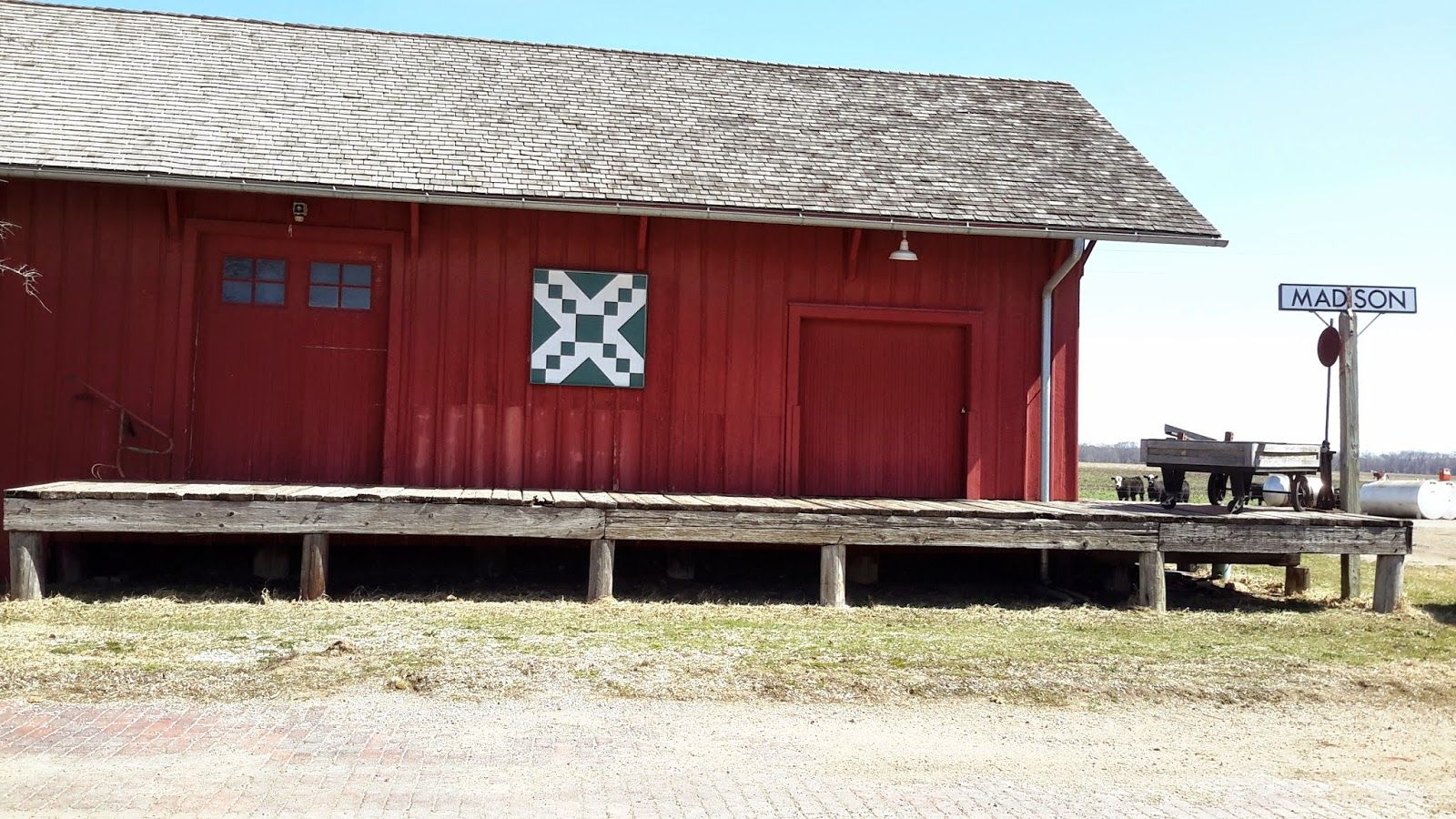 Kansas morris county dwight - Kansas Flint Hills Quilt Trail Greenwood County Railroad Crossing Madison Historical Society