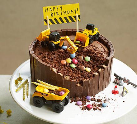 Groovy Digger Cake Recipe Digger Cake Digger Birthday Cake Cake Recipes Funny Birthday Cards Online Fluifree Goldxyz