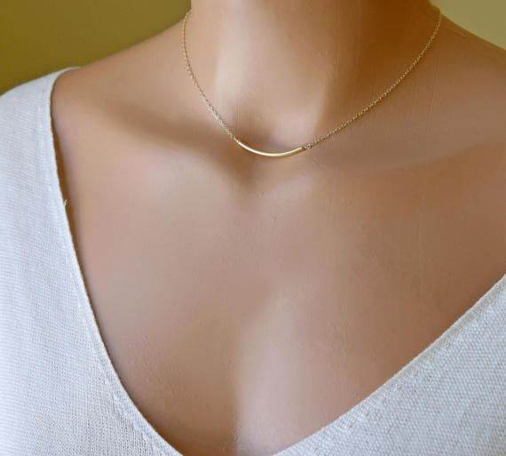 Gold Fill Hammered Choker Halo Choker Bar Choker Gold Bar Choker Choker Necklace Collar Necklace Layering Necklace