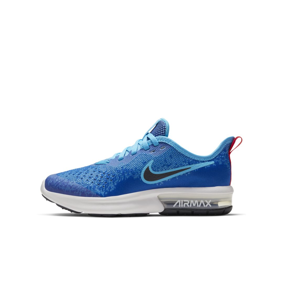 Nike Air Max Sequent 4 Big Kids' Shoe Size 5.5Y (Indigo