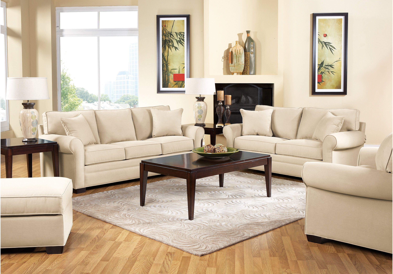 Picture Of Cindy Crawford Bellingham Vanilla Classic 2pc Livin Living Room Sets Furniture Affordable Living Room Furniture Affordable Living Room Set