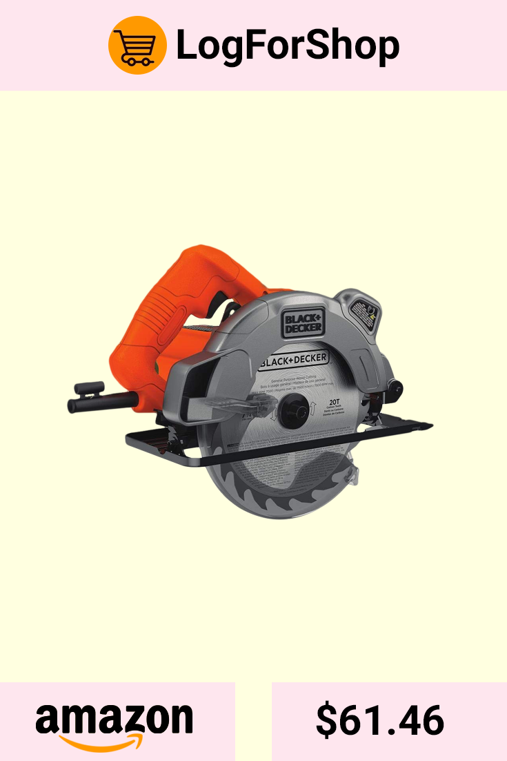 BLACK+DECKER Circular Saw 13-Amp Motor 7-1//4 In Corded Laser Guide Spindle Lock