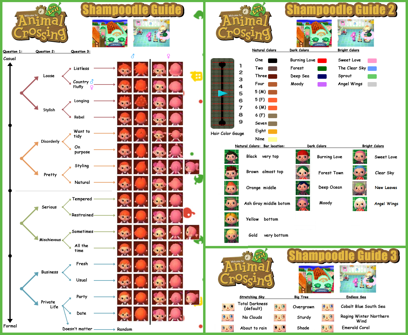 guide to shampoodle | animal crossing: new leaf | pinterest