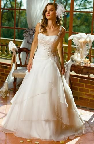 A-Line 0391 style New Formal Bridal Wedding Dresses Wedding Gowns