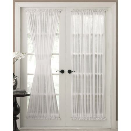 the reverie semi sheer door panel curtains are available in white o - Door Panel Curtains