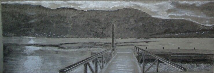 Charcoal mountains lake dock drawings pinterest lake dock and charcoal mountains lake dock freerunsca Gallery
