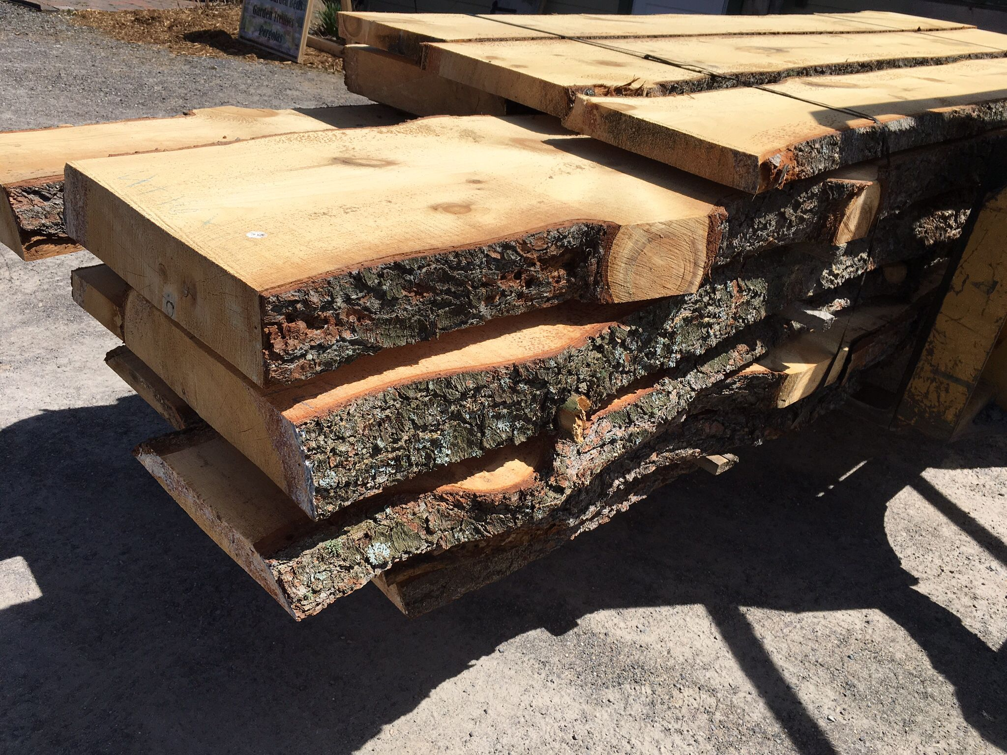 live edged pine slabs great for bar top coffee tables dining