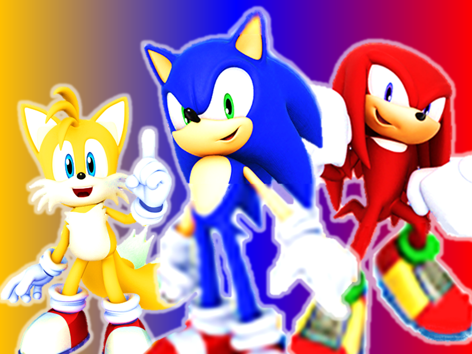 Sonic, Tails And Knuckles Sonic, Sonic Heroes, Sonic The Hedgehog