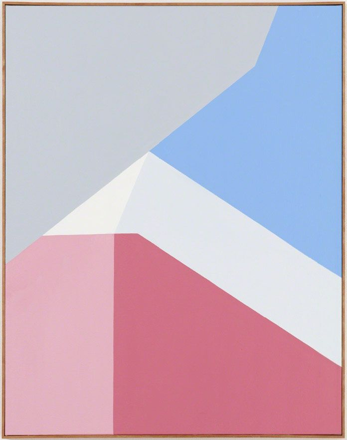Clare Rojas's recent paintings are based on pure geometric abstraction.