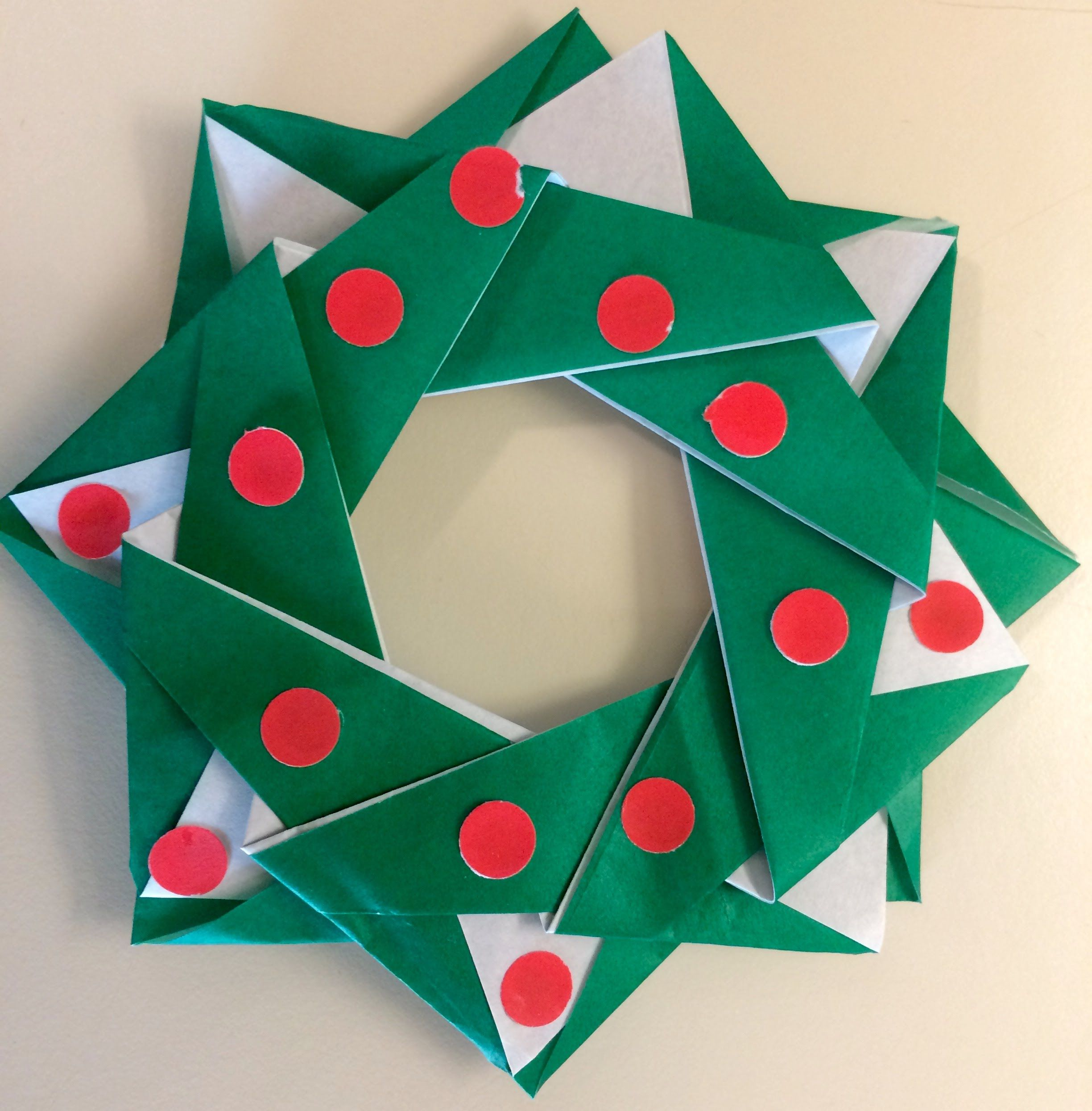 origami for beginners easy holiday wreath fun and simple
