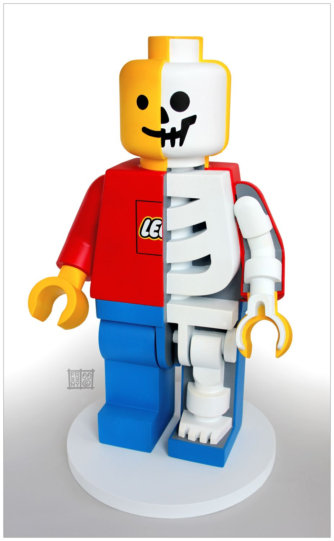 lego mini figure lego skeleton sculpture by jason freeny. Black Bedroom Furniture Sets. Home Design Ideas