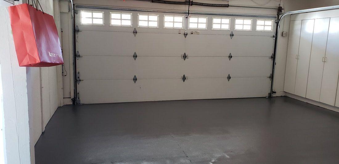 Garage Floors 1 Day Orange County Epoxy Coatings Garage Flooring Orange Coun Boyd Retreat Garage In 2020 Garage Floor Garage Floor Epoxy Flooring Companies