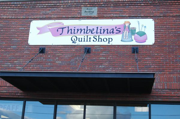 Outside shots of businesses in Livingston, Montana. Thumbelina's ... : quilt shops in montana - Adamdwight.com
