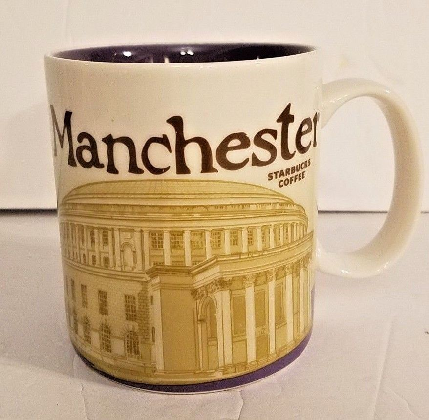 Starbucks Coffee Mug Manchester UK 2013 16 Oz England