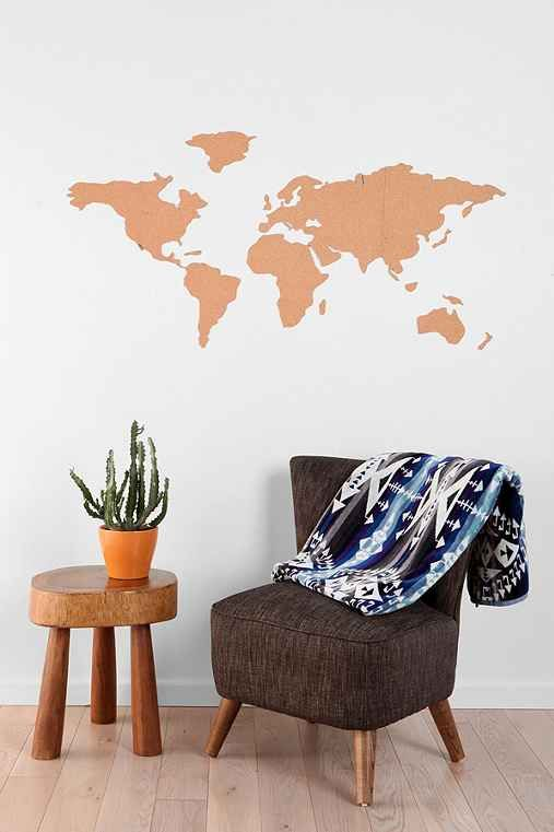 pin your favorite travel memories to this cork board mapor decide where you want - Cork Apartment Design