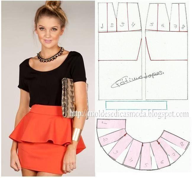 peplum skirt. sewing pattern | Scissors and stitches | Pinterest ...