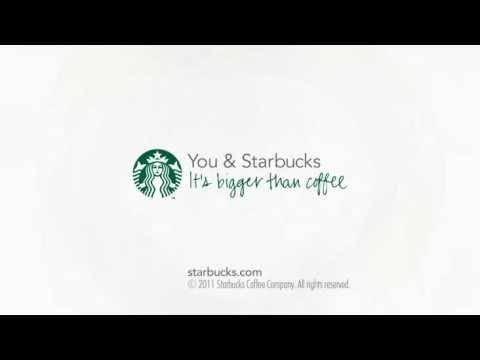 Starbucks 40th - Very simple kinetic typography