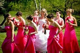 40f271475 Damas de honor vestido color Fucsia