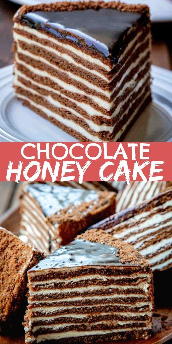 Chocolate Honey Cake (Spartak Cake) #honeycake