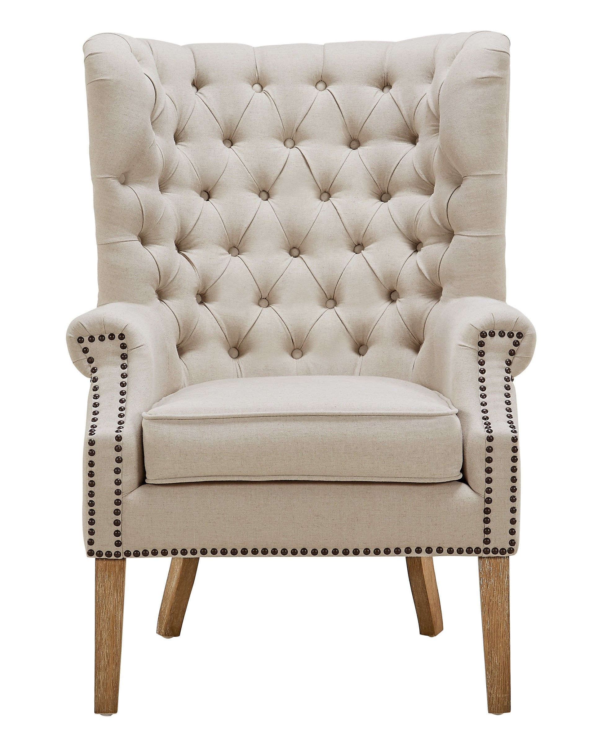 Abe beige linen wing chair for the new loft pinterest linens