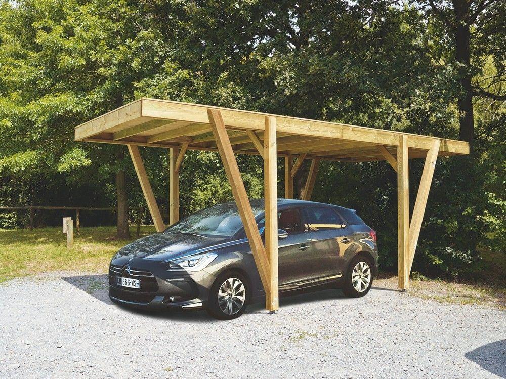 Carport bois en Pin classe 4 Carport bois, Abri voiture