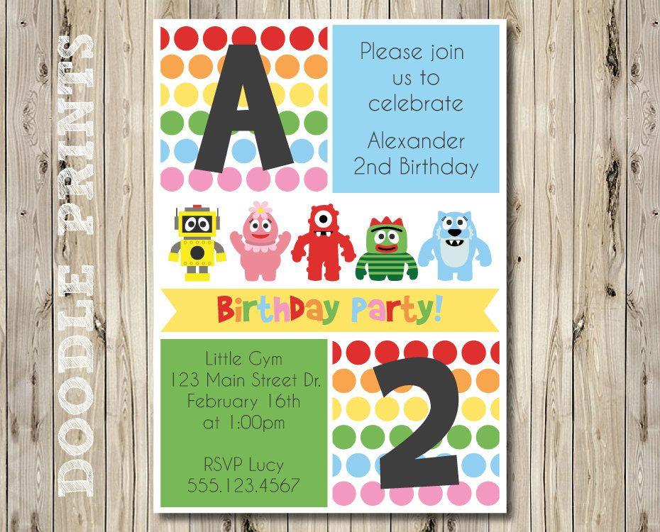 Printable YGG Birthday Party Invitation - Polka Dot Customized - birthday template invitations
