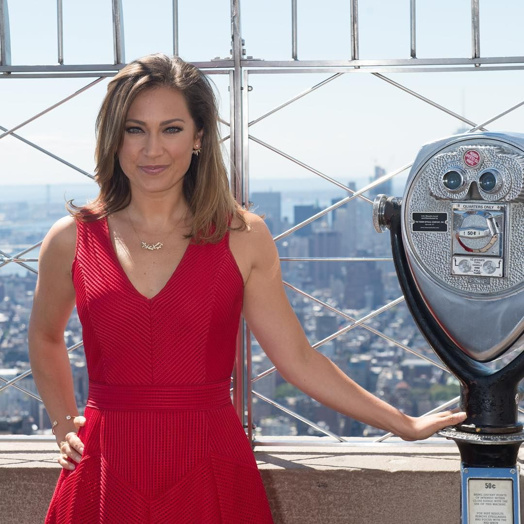 Ginger Zee Wears Our Ruby-red Topaz Dress