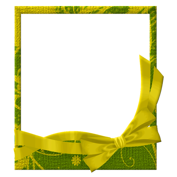 yellow frame png Green and Yellow Transparent Frame