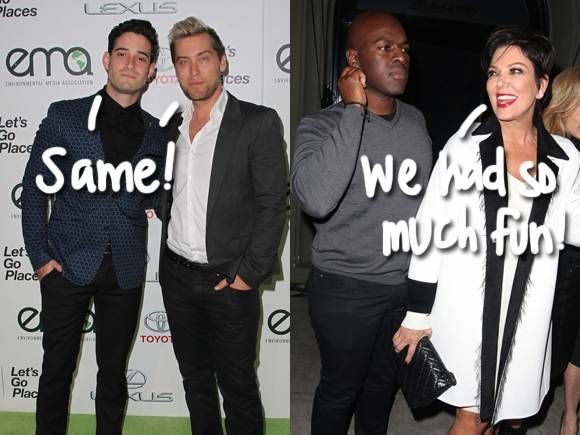 Kris Jenner & Lance Bass Take Their Boy Toys Out On A Fun Double Date!