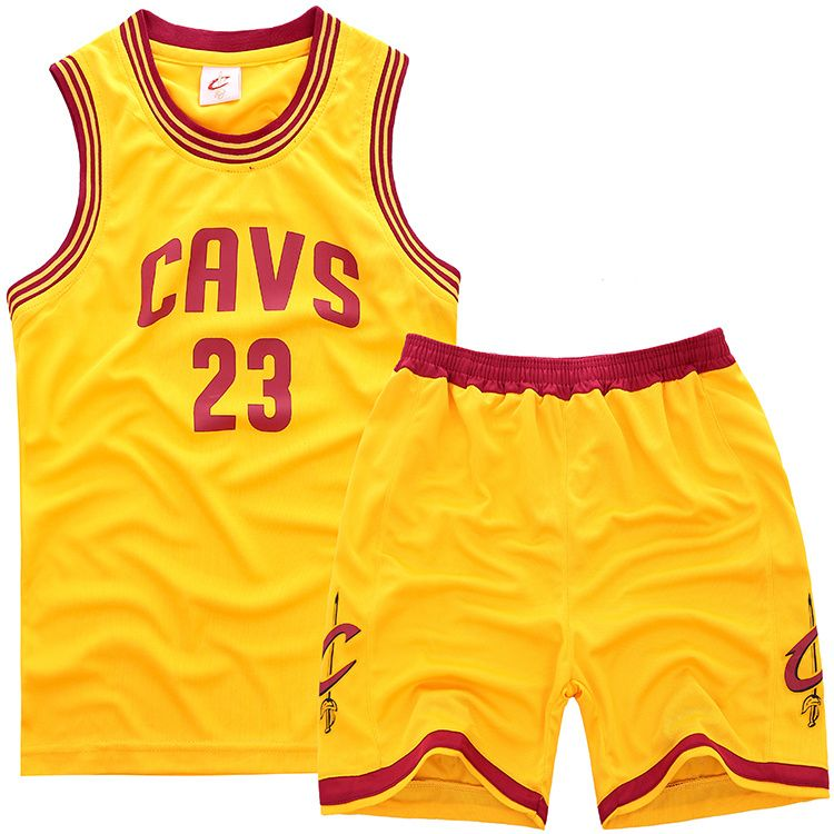 b32f7d80b167 NBA Cleveland Cavaliers  23 Lebron James Kids Sets (Jersey with shorts)  jersey Yellow