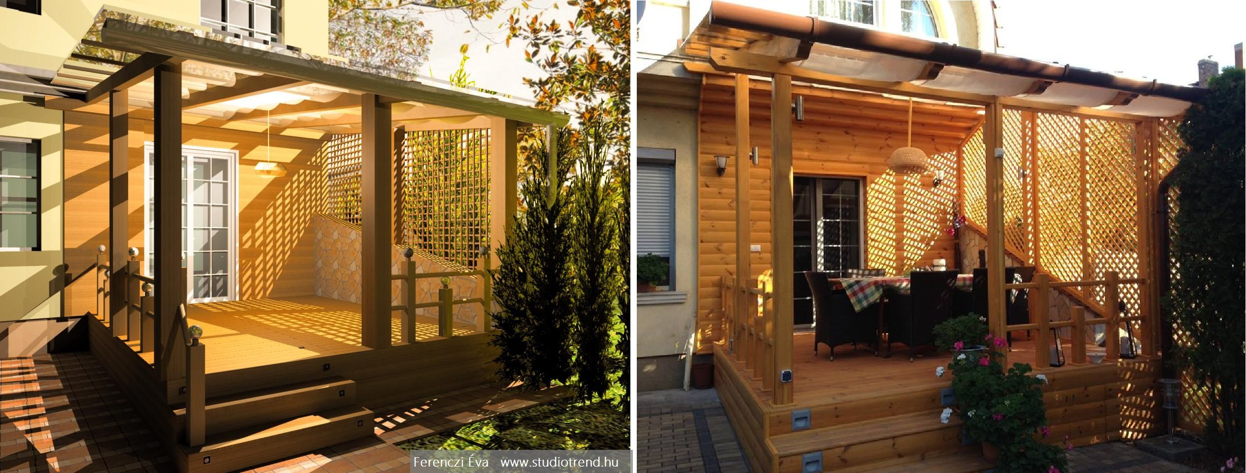Terrace - visual design and the reality.
