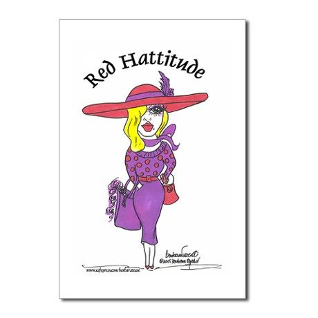 Red Hattitude Postcards (Package of 8)