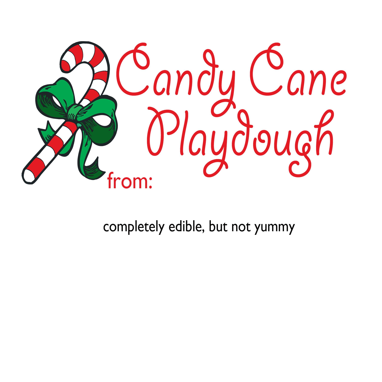 Candy Cane Playdough T For Children