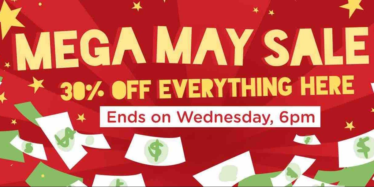 Carousell Singapore Mega May Sale 30 Off Everything Promotion