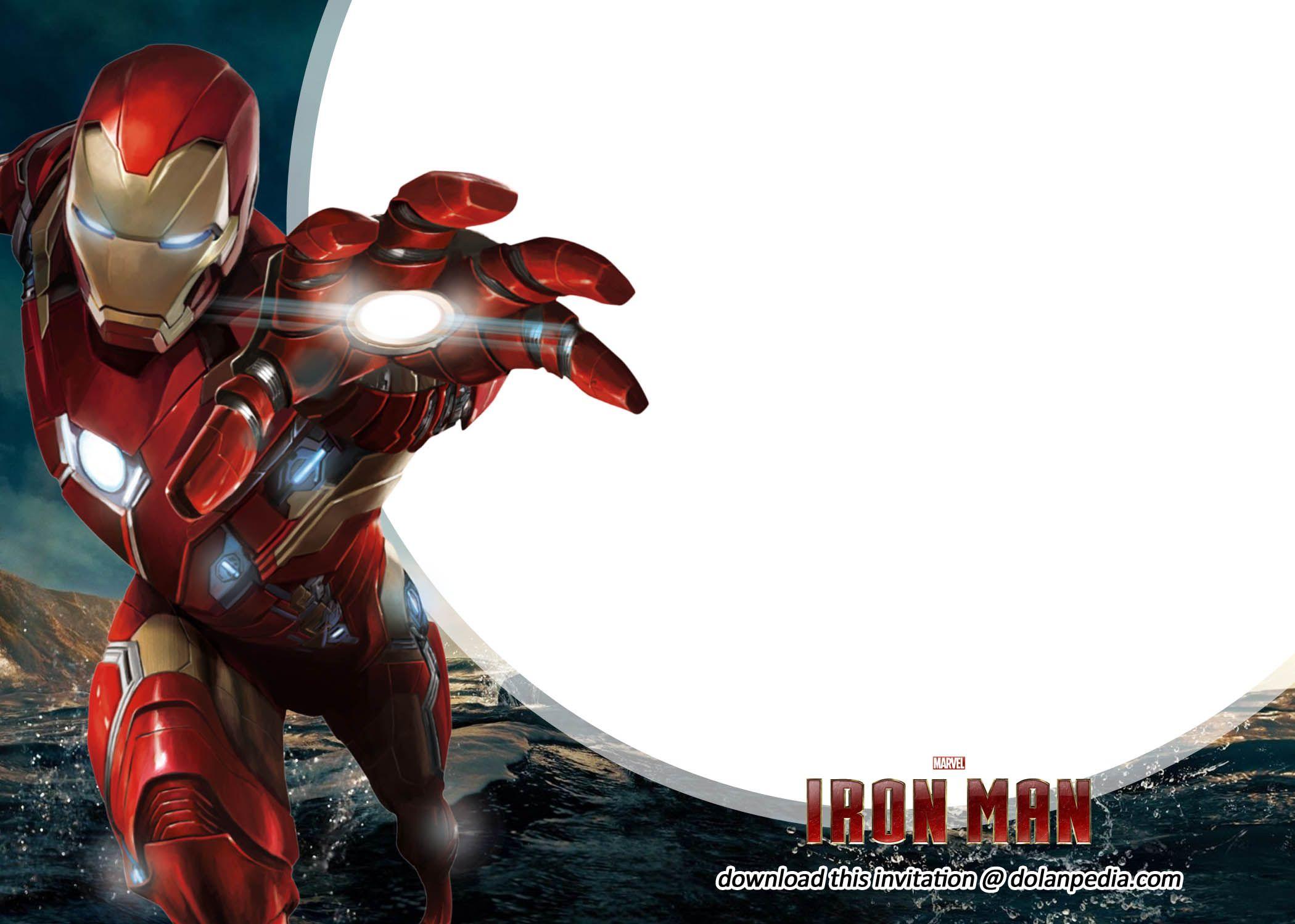 Free Printable Iron Man Birthday Invitation Templates  Iron man