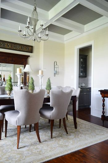 House Crashing Four A Good Cause  Coffer Ceiling And House Fascinating Coffered Ceiling Dining Room Inspiration Design
