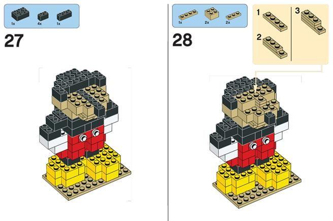 Sådan bygger du Mickey Mouse i Lego!