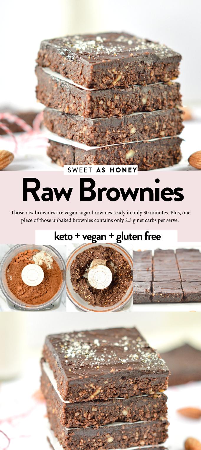 Raw Brownies, keto + vegan sugar free brownies – Sweetashoney