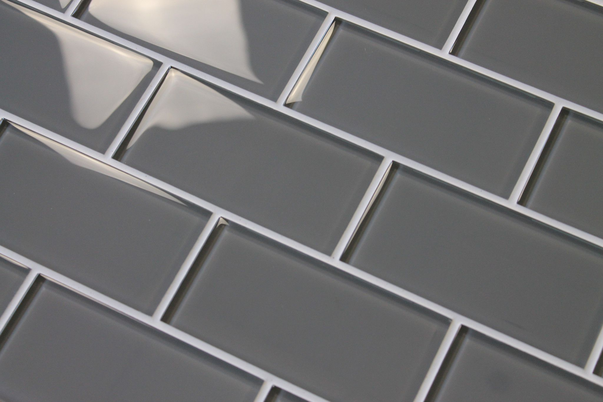 Pebble Gray 3x6 Gl Subway Tiles Rocky Point Tile Online And Mosaic