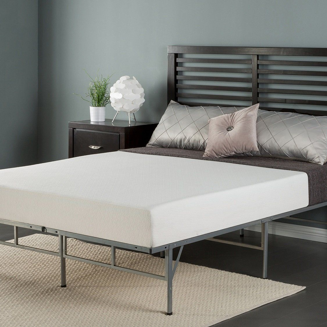 Zinus 8 Inch Memory Foam Mattress and Easy To Assemble Smart ...