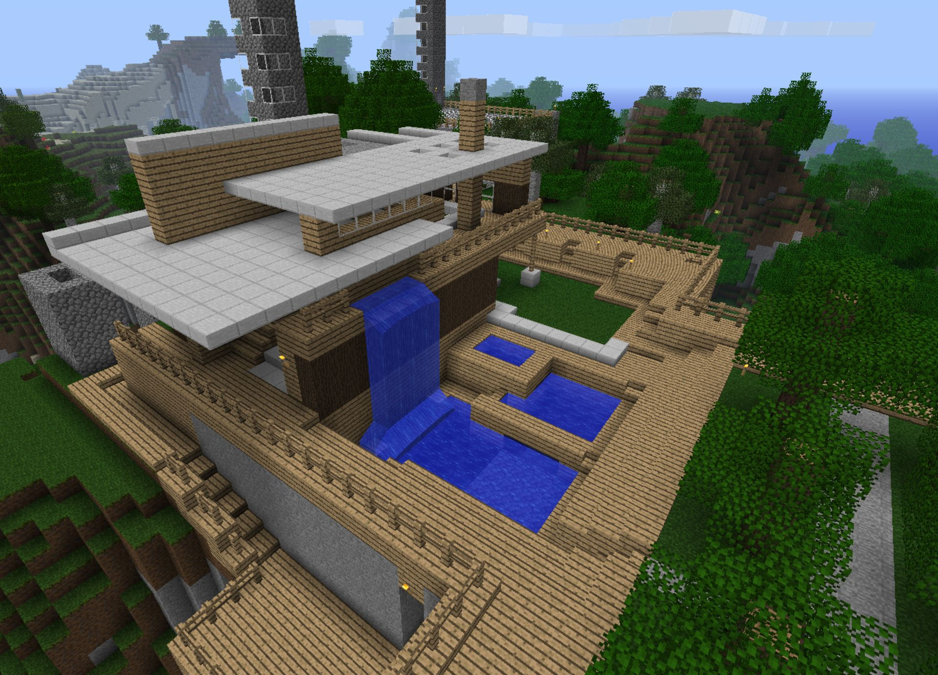 Minecraft Interior Design Living Room Cool Minecraft Houses Hd Background Wallpaper 24 Hd Wallpapers