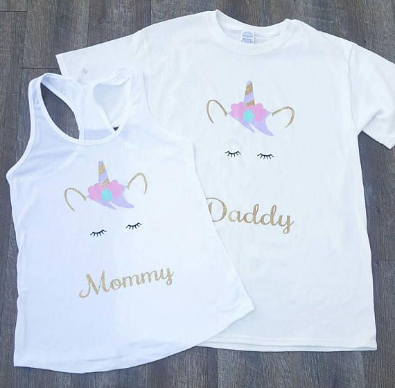 ef1a3f40fd19 Unicorn Mommy & Daddy shirts 2 PC set Unicorn Mom shirt | Costumes ...
