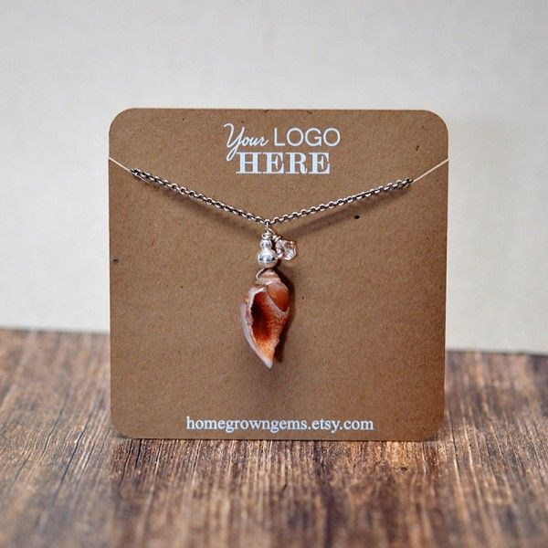 White Print Necklace Display Cards Custom With Your Logo