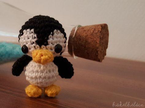 Gehäkelter Pinguin - Kostenlose Anleitung #dollhats