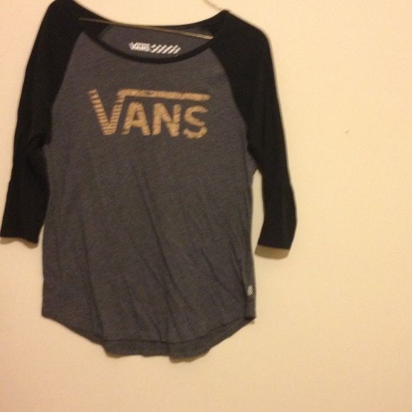Size small vans baseball style shirt Wore maybe once. No stains. Like new Vans Tops Tees - Long Sleeve