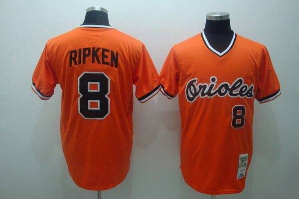 a00439c4c ... inexpensive mitchell and ness orioles 8 cal ripken embroidered orange  throwback mlb jersey only 21.50 88284