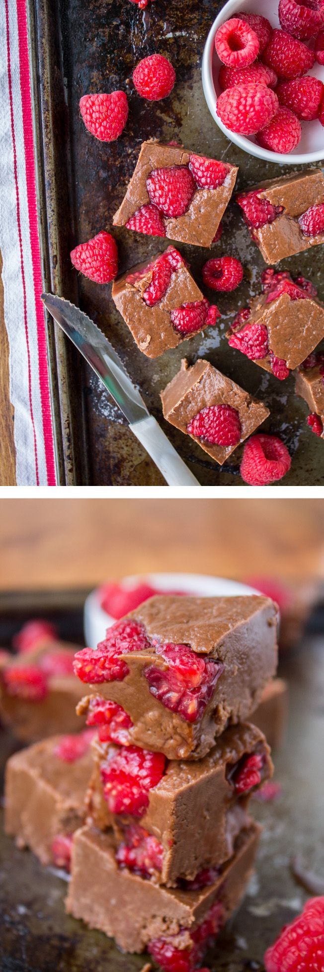 Photo of Nutella Fudge with Raspberries – The Food Charlatan