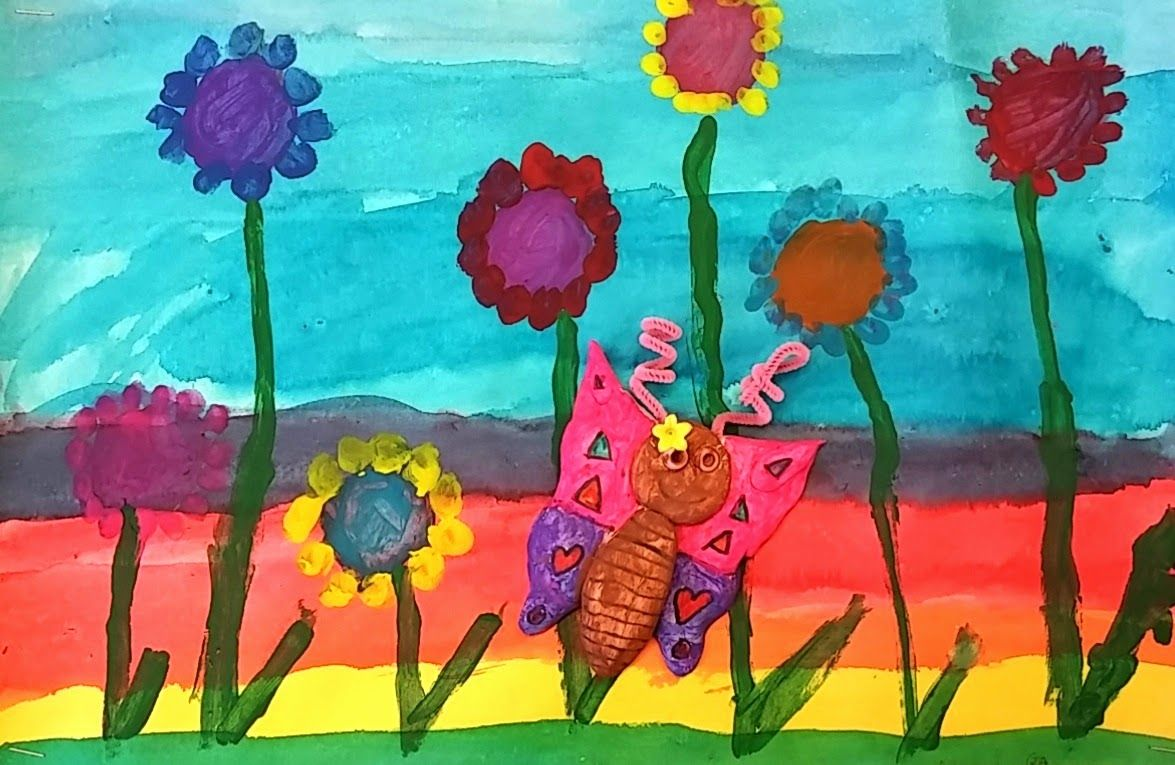 Art with Mrs. Seitz: Rainbow Gardens
